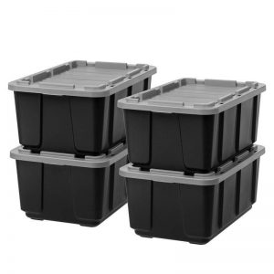 Use Bins and Totes garden equipment storage