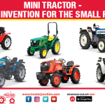 Mini Tractor – A Great Invention for The Small Farmers