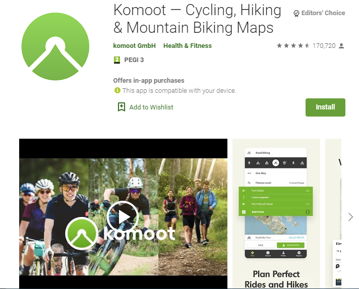 Komoot Adventure Apps