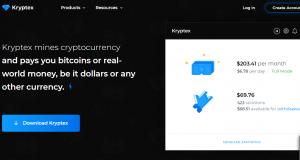 Kryptex mining software