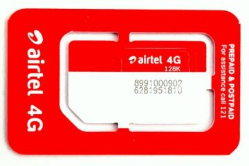 What is the price of Airtel 4G SIM?